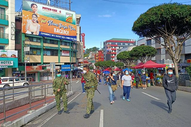 Officers in Baguio City