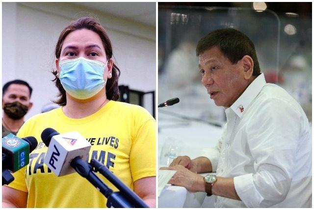 Sara Duterte and Rodrigo Duterte