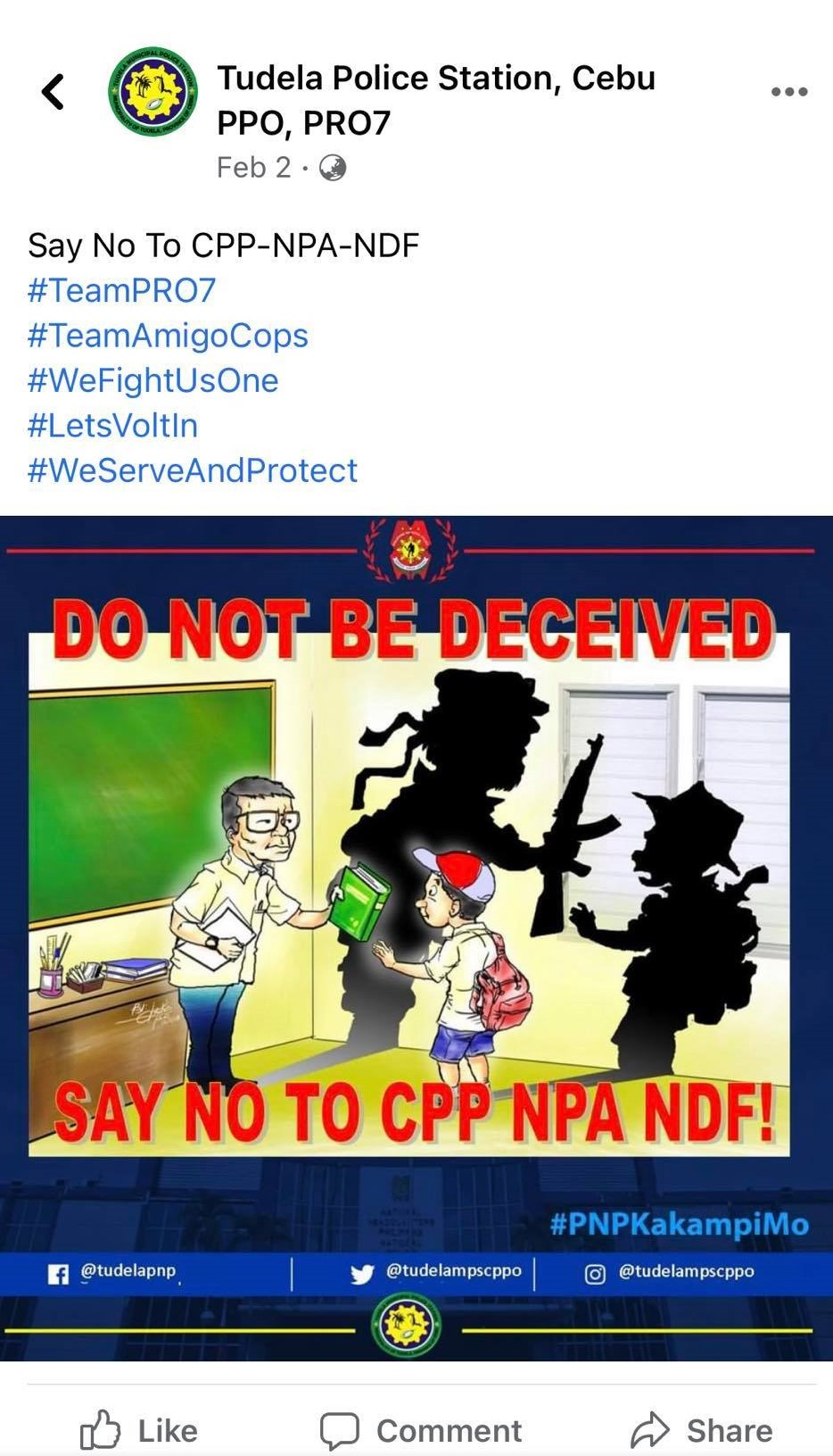 PNP graphic red-tagging teachers