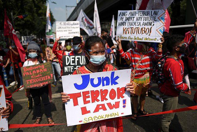 Anti Terror Law protest