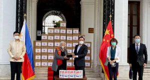China Embassy donating tablets