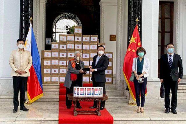 China Embassy donating tablets