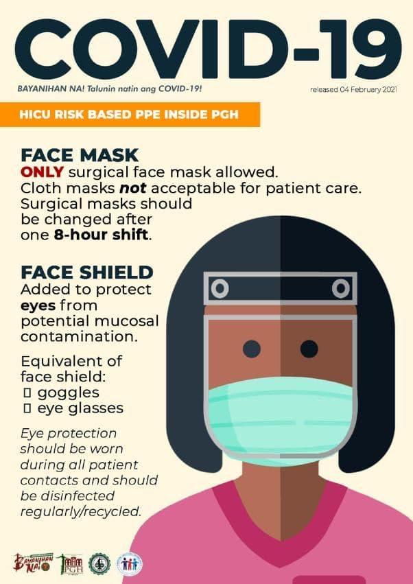 UP PGH advisory on face shield