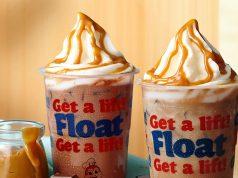 Creamy caramel float