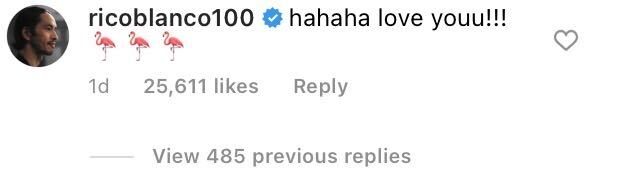 Rico Blanco's IG comment