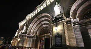 Manila Cathedral at night