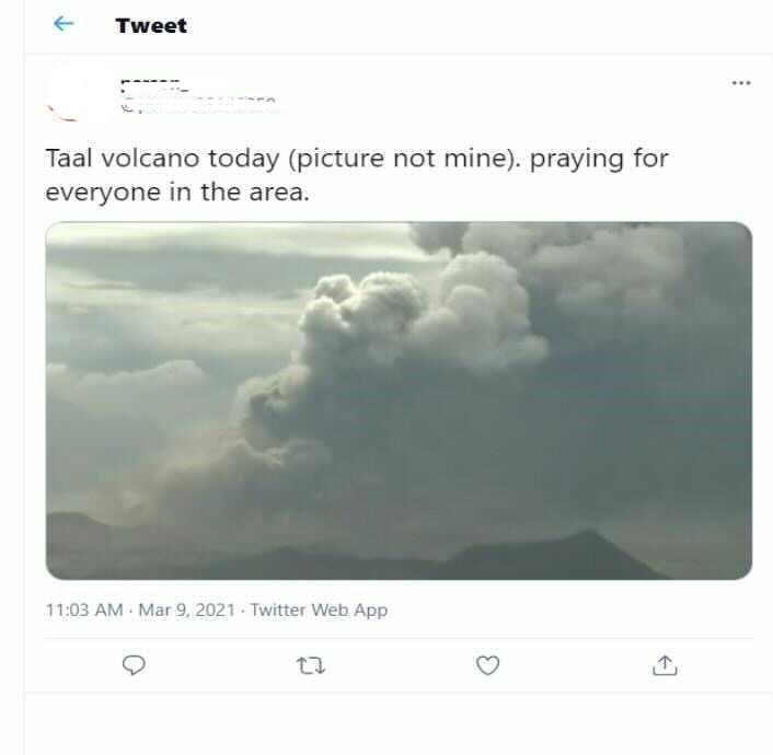 Taal Volcano fake post