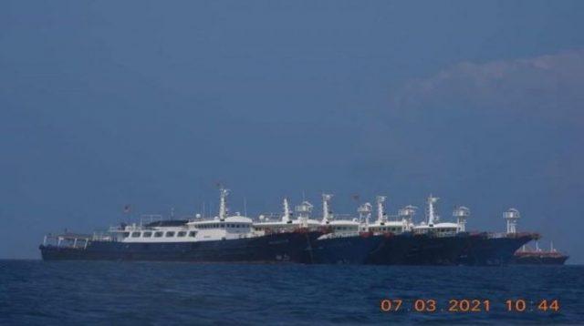 China militia ships Whitsun reef
