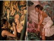 Solenn Heussaff with painting