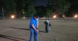 Duterte playing golf