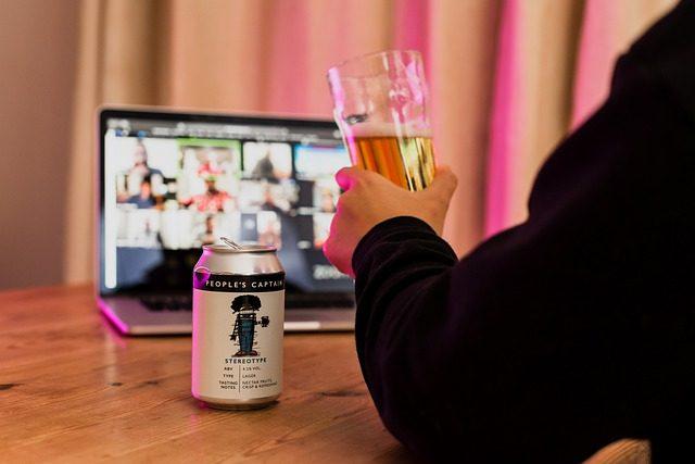 Virtual drinking session