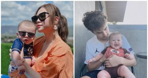 Janella Salvador and Markus Paterson with son