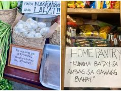 Community pantry signage