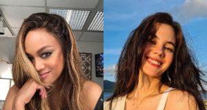 Tyra Banks and Catriona Gray