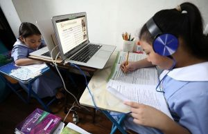 Students in distance learning