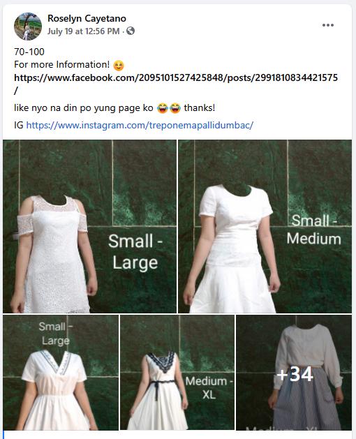 Facebook group screengrab