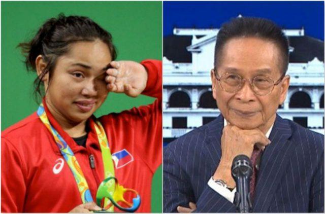 Hidilyn Diaz, Sal Panelo