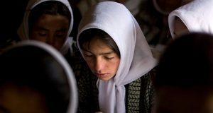 Afghan girls in school