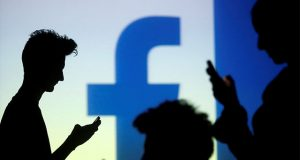 Facebook logo and users
