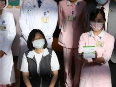 Taiwan President Tsai Ing-wen gets vaccinated in Taipei