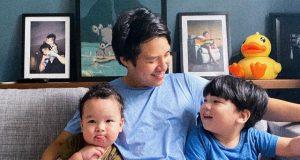 Jim Bacarro with kids