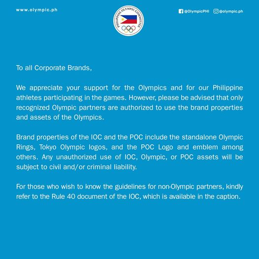 Philippine Olympic Committee's post