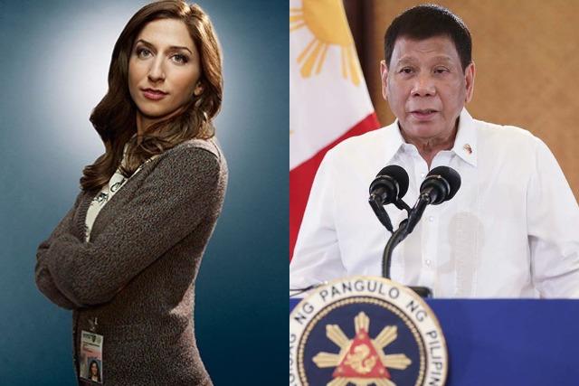Una tarjeta de cita falsa que muestra a la estrella de 'Brooklyn Nine-Nine' alabando a 'Duterte resurge de nuevo