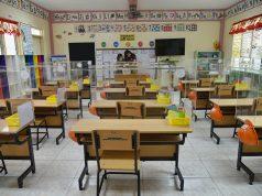 Barriers in Aurora Quezon Elementary School