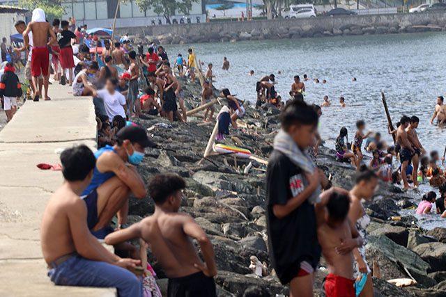 Swimming in Manila Bay