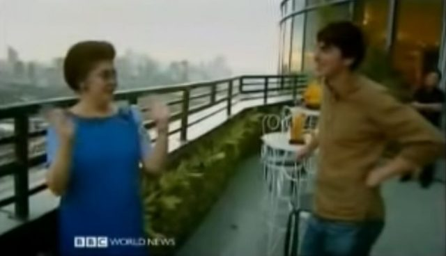 Simon Reeve with Imelda Marcos